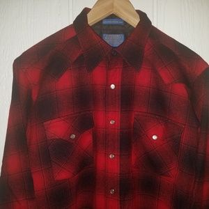 Pearl Snap Pendleton high grade Wester wear szL